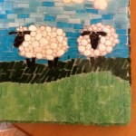 Two Little Sheep Mosaic