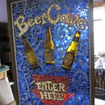 Beer Cave Mosaic sign