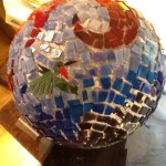 Ungrouted mosaic gazing ball
