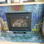 Pittsburgh Cityscape Fireplace