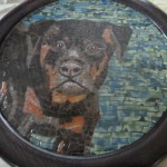 Mosaic portrait of rottweiller